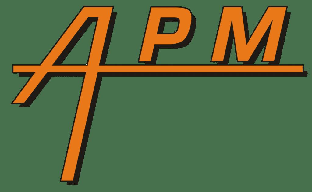 Logo APM ascenseur, porte de garage, monte-charge